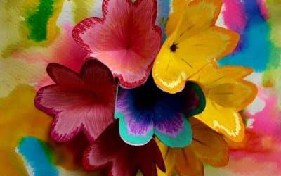 ליצור פופ אפ פרחים משמח